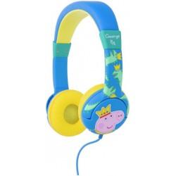 Kids' Headphones   Peppa Pig Prince George Junior On-Ear Headphones - Blue
