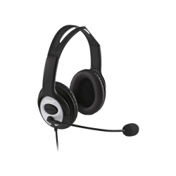 MICROSOFT LX-3000 LIFECHAT STEREO - Office Headset (Kabelgebunden, Binaural, Over-ear, Schwarz)