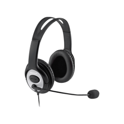 MICROSOFT LifeChat LX-3000 - Office Headset (Kabelgebunden, Binaural, Over-ear, Schwarz)