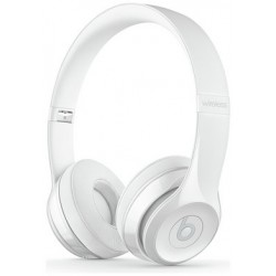 Beats by Dre Solo 3 On-Ear Wireless Headphones - Gloss White