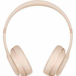 Beats By Dre Solo3 Bluetooth On-Ear Headphones with Mic Control - Matte Gold