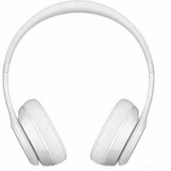 Beats By Dre Solo3 Bluetooth On-Ear Headphones with Mic Control - Gloss White