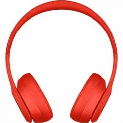 Beats By Dre Solo3 Bluetooth On-Ear Headphones with Mic Control - Red