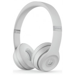 Beats by Dre Solo 3 On-Ear Wireless Headphones- Satin Silver