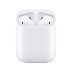 APPLE AirPods (2019) 2nd Gen. - Bluetooth Kopfhörer mit Ladecase (In-ear, Weiss)