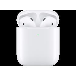 APPLE AirPods (2019) 2nd Gen. - Bluetooth Kopfhörer mit kabellosem Ladecase (In-ear, Weiss)