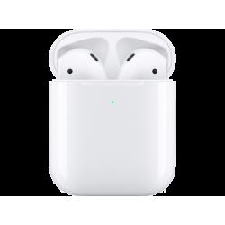 APPLE Écouteurs sans fil AirPods 2 + Station de charge sans fil (MRXJ2ZM/A)