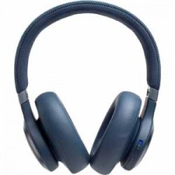 JBL LIVE 650BTNC Blue AM Over Ear Headphone Wireless Bluetooth Noise Canceling Voice Assistant Speakerphone
