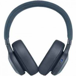 JBL E65 NC Blue Wireless Over-Ear Active Noise Cancelling 24 hour battery