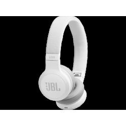 JBL LIVE 400BT - Bluetooth Kopfhörer (On-ear, Weiss)