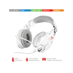 Headsets | TRUST Casque gamer GXT 322W White Camouflage (20864)