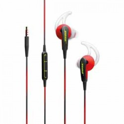 Bose SoundSprt IE Red In Ear headphone Apple devices Power Red