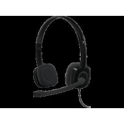 LOGITECH H151 - PC Headset (Kabelgebunden, Binaural, On-ear, Schwarz)