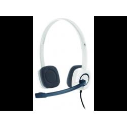 LOGITECH H150 - PC Headset (Kabelgebunden, Binaural, On-ear, Weiss/Grau)