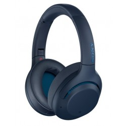 Noise-cancelling Headphones | Sony WH-XB900N Over-Ear Wireless Headphones- Blue