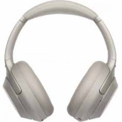 Sony Wireless Noise-Canceling Headphones - Silver