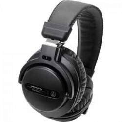 DJ Headphones | Audio Technica ATH-PRO5X Black Professional Over ear DJ Headphone 40 mm Drives Rotating earcups provide for one ear monitoring detaching Loc