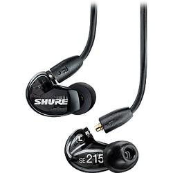 Single-Ear Headsets | Shure SE215 Sound-Isolating In-Ear Stereo Earphones (Black)
