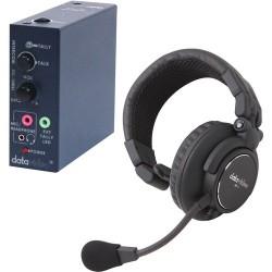Single-Ear Headsets | Datavideo ITCSL-HP1K Intercom Accessory Set for Intercom Systems