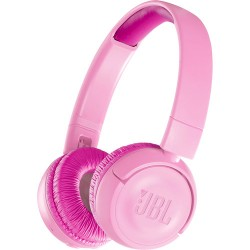 Headphones | JBL JR300BT Kids Wireless On-Ear Headphones (Punky Pink)