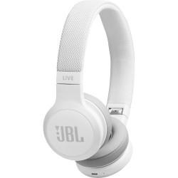 JBL LIVE 400BT Wireless On-Ear Headphones (White)