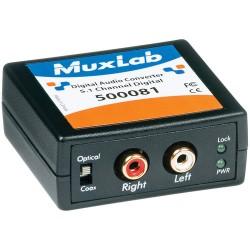 DACs | Digital to Analog Converters | MuxLab 500081 Digital to Analog Audio Converter and Downmixer (Dolby Digital)