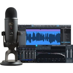 Blue | Blue Yeti Professional Recording Kit for Vocals with USB Mic & Software (Blackout)