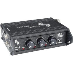 Headphone Amplifiers | Sound Devices HX-3 - 3 Channel Portable Headphone Amplifier